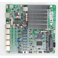 China Dual Core Fanless Quad LAN Motherboard With 4 Intel Gigabit Network Card wholesale