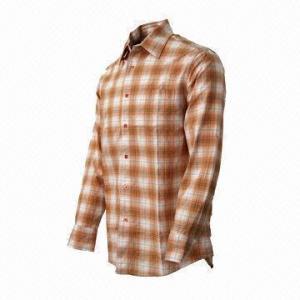China Men's Plaid Shirt, Comfortable to Wear, Fashionable wholesale