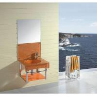 China Glass bathroom cabinet(LW-YG02) wholesale