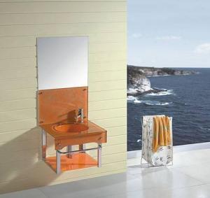 China Glass bathroom cabinet(LW-YG02) wholesale