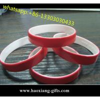 China Hot Sale Double Sided Custom Cheap Silicon Bracelet Silicone wristband For Gift wholesale