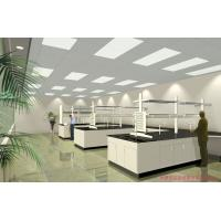 China Commercial Lab Island Bench , Heat Resistant Steel Wood Biology Lab Furniture wholesale