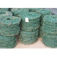 China PVC / PE Coated Green Barbed Wire High Security Fence For Airport BWG8 - 20 wholesale