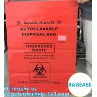 Quality Customized color biohazard medical waste drawstring bag drawtape bag, biohazard medical waste bags for clinical waste,ye for sale