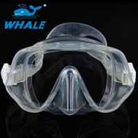 China Adult Frameless Dive Mask , Professional Single Lens Dive Mask Silicone Strap wholesale