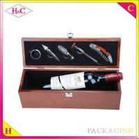 China Luxury single timber wine bottle holder wine bottle carrier wood wine box wholesale