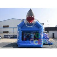 China Kids Fun Shark Inflatable Bouncer Slide Combo House Castle With Digital Printing wholesale