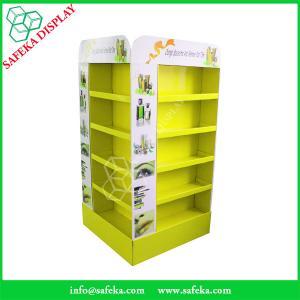 China 4 ways Portable shelves corrugated merchandise display shelf cardboard display tray rack carton retail make up display wholesale