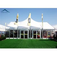 China Width 10m Elegant Mixed Glass Wall Canopy Tent Structures For Outside Events wholesale