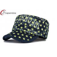 China Velcro Embroidered Military Baseball Caps Flat Top Baseball Hats wholesale