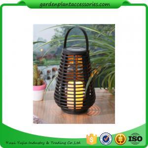China Exterior Rattan Solar Lights , Solar Powered Yard Lights With 2V / 40MA Solar Panel wholesale