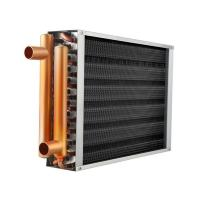 """China 80000 BTU 16"""" x 16"""" Water to Air Heat Exchanger copper tube finned hot water coil wholesale"""