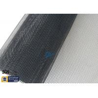 China PTFE Coated Fiberglass Open Mesh Fabric Black 1MM 260℃ Conveyor Dryer Belt wholesale