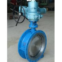 Quality High Pressure Electric Actuator Butterfly Valve Three Eccentric API609 Standard for sale