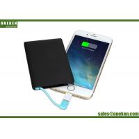 Buy cheap Power Banks Promotion Gift Mobile Phone USB Customized Logo Ultra Slim Credit Card 2500mAh from wholesalers
