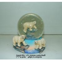 Wholesale Fashion  Polystone Resin Water Globe With Animal Bear Bases 7 X 7 X 9.5 Cm from china suppliers