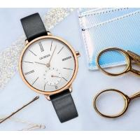 Quality Wholesale Retail Fashion Women Minimalist Genuine Leather Stainless Steel Quartz Wrist Watches  C6135 for sale
