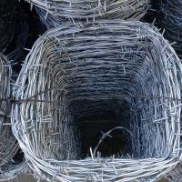 Buy cheap 4 Point Twisted Electric Galvanized Barbed wire for Farmland from wholesalers