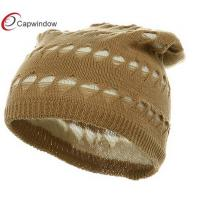 China Camel 4 Holes New Vintage Beanie Winter Hats with Cotton wholesale