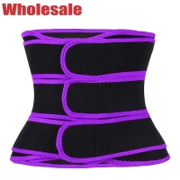 China Stomach Shaper Belt Power Gym 3 Belts Waist Trainer With Three Straps wholesale