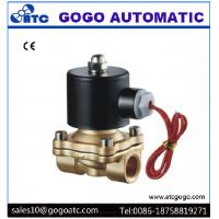 China 110V AC Brass Air Gas Water Solenoid Valve Direct Drive Type G1/8 - G2 Port Size on sale