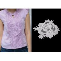 China Custom Water Soluble Lace / 3D Flower Lace Trim Collar Applique With OEKO - Tex wholesale