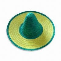 China Mexican Hat, Available in Various Designs, Suitable for Parties, Made of Natural Grass wholesale