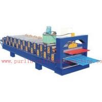 China PLC Control Automatic Steel Roof Panel Roll Forming Machine Double Layer High Efficiency wholesale