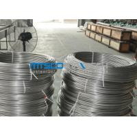 China ASTM A269 TP304 Stainless Steel Coiled Tubing Size 6.35mm x 1.65mm x 150m / coil wholesale