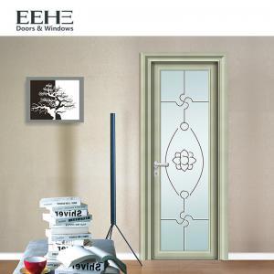 China European Standard Toilet Aluminium Swing Door , Soundproof Grey Aluminium French Doors wholesale