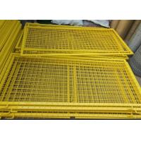 China Durable Powder Coated Steel Wire Fencing Panels With Frame Finishing wholesale