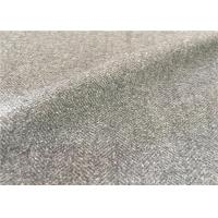 China Customized Mid - Grey Wool Suiting Fabric Anti Static Environment Friendly on sale