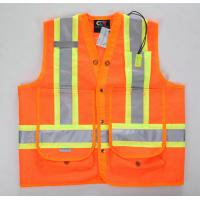 China High Visibility Reflective First Aid Equipments safety vest with Pockets wholesale