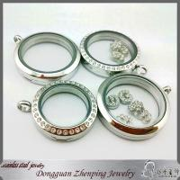 China 316l stainless steel floating charm locket floating glass locket magnet floating locket wholesale