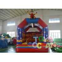 China 5x4m Funny Clown Blow Up Bounce Houses EN14960 Amusement Game wholesale