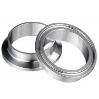 China Welding 4 Inch 6 Inch Tri Clamp Sanitary Fittings  12.7MM CNC Machine Forged on sale