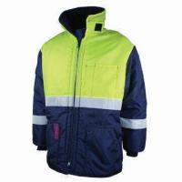 China Work Winter Jacket, Strong Sewing, Made of Nylon Oxford wholesale