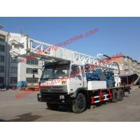 China 350m Dth Rotary Water Well Drilling Rig 115kw Truck Chassis Borehole Drill wholesale