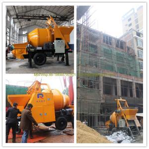 Quality 15m3/h mobile concrete mixer with pump, mini small concrete pump, top seller for sale