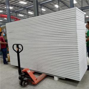 China waterproof 950 type 50mm eps sandwich panel with double steel for clean room's door on sale