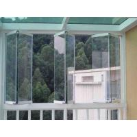 China 1.6mm Frameless Folding Glass Windows Energy Saving With Tempered Glass wholesale