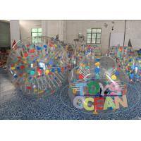 China Promotional Giant Inflatable Hamster Ball Color / Clear Inflatable Ball CE wholesale