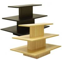 China Convenience store, Retail Display Racks MDF3 tier for displaying folded branded apparel wholesale
