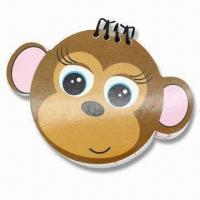 China Note Pad in Monkey Shape with Wire Binding, Customized Logos are Accepted wholesale