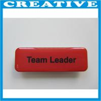 China name badge with magnetic back wholesale