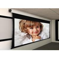 China Custom Large Electric Motorized Projector Screen With Aluminum Casing , Remote Control wholesale