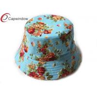 China Lady Classical Fisherman Bucket Hat Allover Flower Pattern Printing wholesale