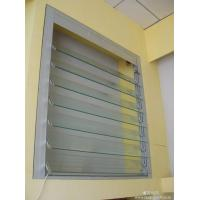 China Silver Single Aluminum Glass Shutter Window With 5mm Clear Tempered Glass wholesale