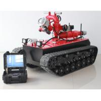 China HMRBVT01 Tracked Fire Fighting Robot Remote Control With Double Water Belt Supply on sale