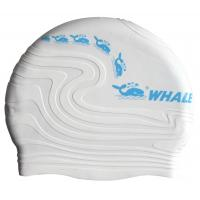China Multi Color Unisex Silicone Swimming Caps , Waterproof Swimming Hats For Adult wholesale